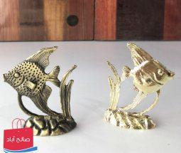 خرید عمده مجسمه ماهی آنجل طلایی