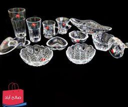 خرید عمده سرویس پذیرایی شیشه ای SACHI