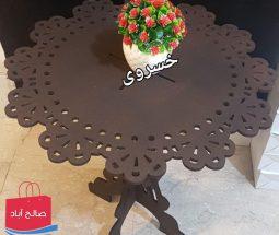 خرید عمده میز دکوری MDF طرح گل و بوته