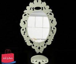 خرید عمده آینه و کنسول سفید مدل زرین
