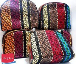 خرید عمده کیف نیم گرد لوازم آرایشی سنتی