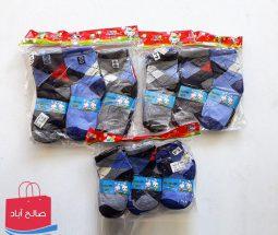 خرید عمده جوراب بچگانه طرح مردانه ۴ سایز