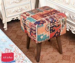 خرید عمده صندلی پاف ۴ پایه چوبی