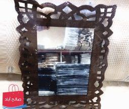 خرید عمده آینه دکوری MDF قهوه ای رنگ