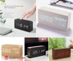 خرید عمده ساعت هوشمند LED مدل رومیزی
