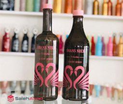 فروش عمده بطری شیشه ای طرح قو