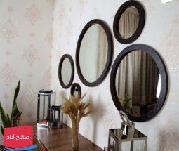 خرید عمده آینه پنج تکه دیواری دکوراتیو