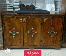 خرید عمده جاکفشی نشیمن ۳ درب چوبی