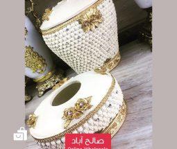 خرید عمده ست سطل و جا دستمال جهیزیه عروس