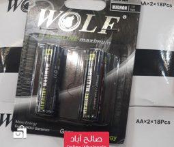 خرید عمده باتری قلمی دو عددی WOLF