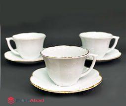 خرید عمده فنجان چای خوری ۱۲ پارچه نیلوفر