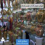 فروش عمده انواع گلدان بلوری