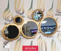خرید عمده ست آینه دکوراتیو گرد طلائی