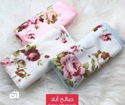 خرید عمده دستمال حولهای ۳ تایی گلدار