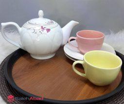 خرید عمده قوری چینی چای طرح گلدار