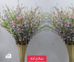 خرید عمده شاخه گل تزئینی طرح شکوفه رنگی