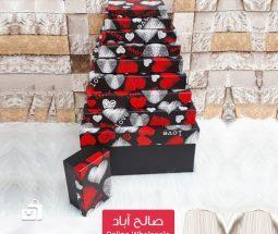 خرید عمده جعبه کادویی ۱۰ سایزی طرح LOVE