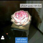 فروش عمده چراغ خواب رومیزی طرح گل