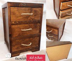 خرید عمده فایل نظم دهنده چوبی ۳ کشو