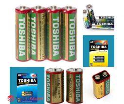 خرید عمده باتری قلمی و نیم قلمی TOSHIBA
