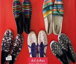 خرید عمده کفش راحتی زنانه پارچهای