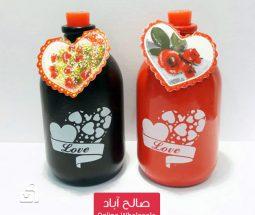 خرید عمده بطری شکلات طرح عاشقانه