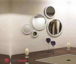 خرید عمده آینه دکوراتیو پنج تکه سفید