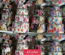 خرید عمده سرویس قابلمه ۸ پارچه گلدار
