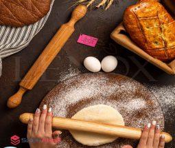 خرید عمده وردنه چوبی شیرینی پزی