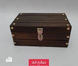 خرید عمده صندوقچه جواهرات ساده چوبی