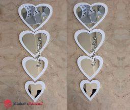 خرید عمده آینه دکوراتیو قلبی ۴ تکه