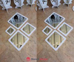 فروش عمده آینه دکوراتیو لوزی ۴ تکه