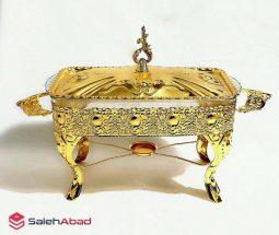 خرید عمده سوفله خوری طلائی طرح سلطنتی