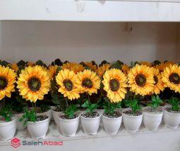 فروش عمده گلدان گل آفتابگردان دکوری