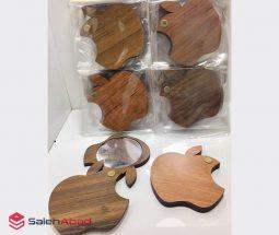 خرید عمده آینه جیبی چوبی طرح اپل