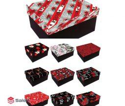 فروش عمده جعبه مستطیل کادویی طرحدار