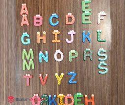 فروش عمده مگنت چوبی طرح حروف انگلیسی