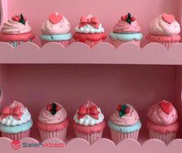 فروش عمده قندان سرامیکی طرح کاپ کیک