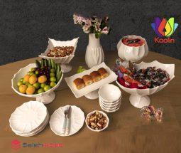 فروش عمده سرویس ظروف پذیرایی طرح آنجل