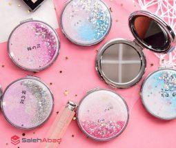 فروش عمده آینه جیبی دخترانه تاشو