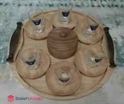 فروش عمده سرویس چای خوری ساده چوبی