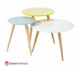 فروش عمده میز عسلی ۳ پایه رنگی