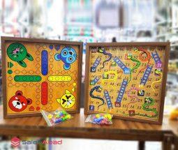 فروش عمده منچ و مارپله چوبی کارتونی
