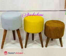 فروش عمده صندلی پاف ۳ پایه گرد