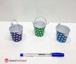 فروش عمده سطل فلزی رنگی کوچک