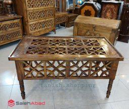 فروش عمده میز جلو مبلی چوبی طرح سنتی