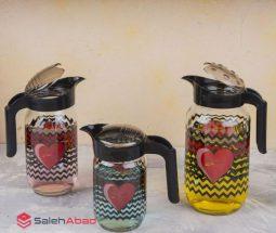 فروش عمده پارچ آب شیشهای طرح قلبی