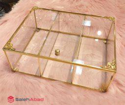 فروش عمده جعبه تی بگ ۳ خانه شیشهای