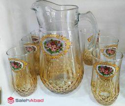 فروش عمده سرویس پارچ و لیوان طرح گل رز