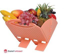 فروش عمده سبد میوه تاشو مدل پایهدار